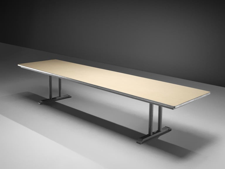 Mid-20th Century Extremely Large Gispen Conference Table  For Sale