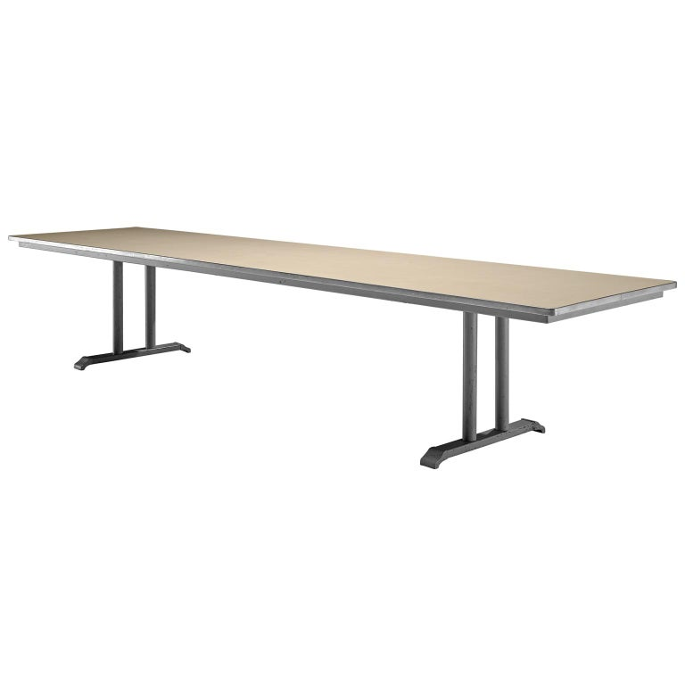Extremely Large Gispen Conference Table  For Sale