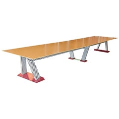 Extremely Large Memphis style Conference Table, Custom-Made, 1980