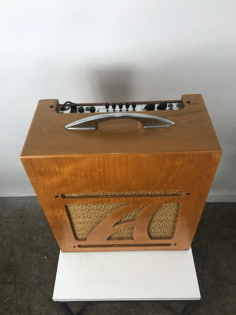 Mid-Century Modern Extremely Rare 1954 Alamo Electrical Musical Amplifier, Model 6A For Sale