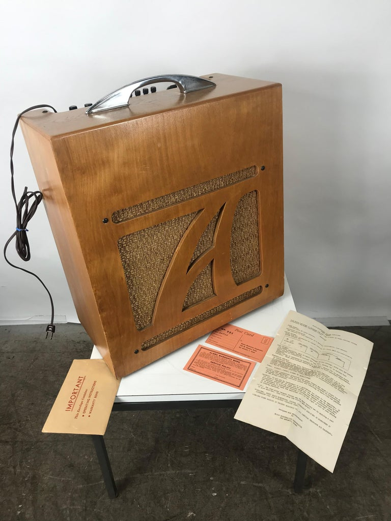Mid-20th Century Extremely Rare 1954 Alamo Electrical Musical Amplifier, Model 6A For Sale