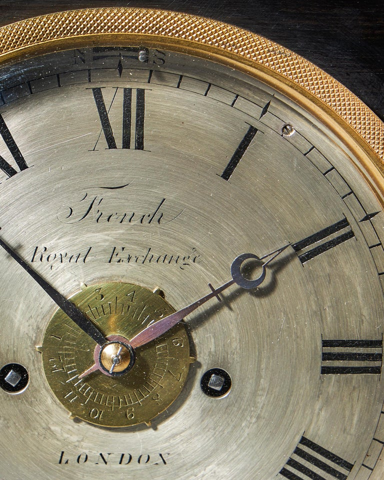 Extremely Rare 19th Century Traveling Clock Signed French Royal Exchange, London For Sale 3