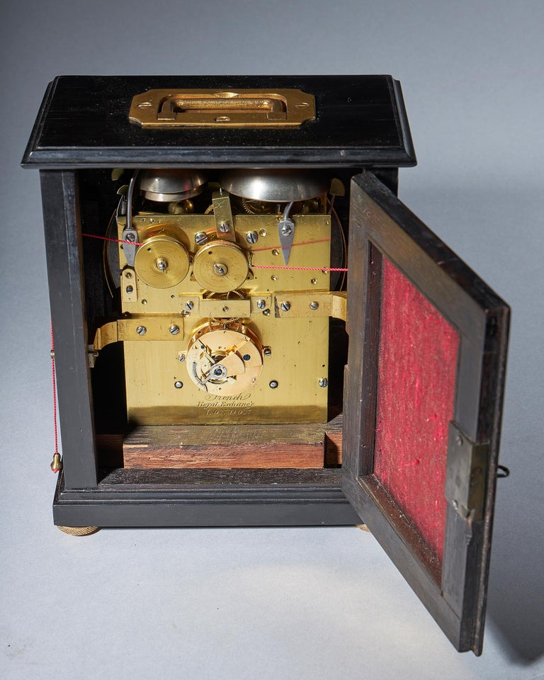 Extremely Rare 19th Century Traveling Clock Signed French Royal Exchange, London For Sale 5