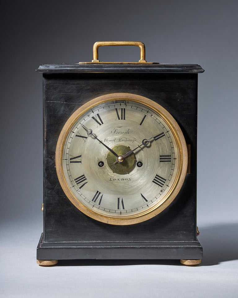 Extremely Rare 19th Century Traveling Clock Signed French Royal Exchange, London In Good Condition For Sale In Oxfordshire, United Kingdom