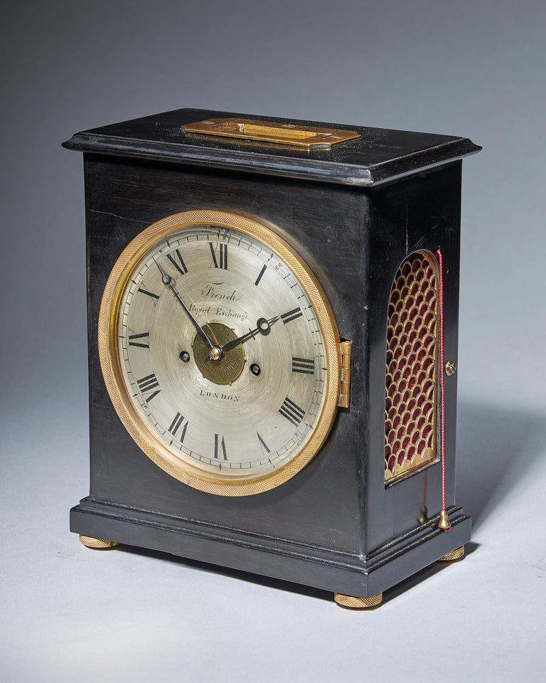 Early 20th Century Extremely Rare 19th Century Traveling Clock Signed French Royal Exchange, London For Sale