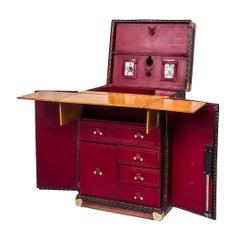 Extremely Rare, 20th Century Arthur Conan Doyle Goyard Desk Trunk