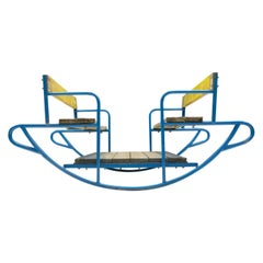 Extremely Rare 4-Seat Child Rocker from the 1960s, Germany