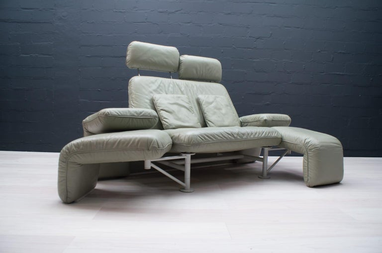 Leather Extremely Rare Adjustable Sofa