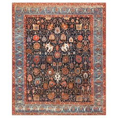 Extremely Rare and Beautiful Antique Persian Bakshaish Rug