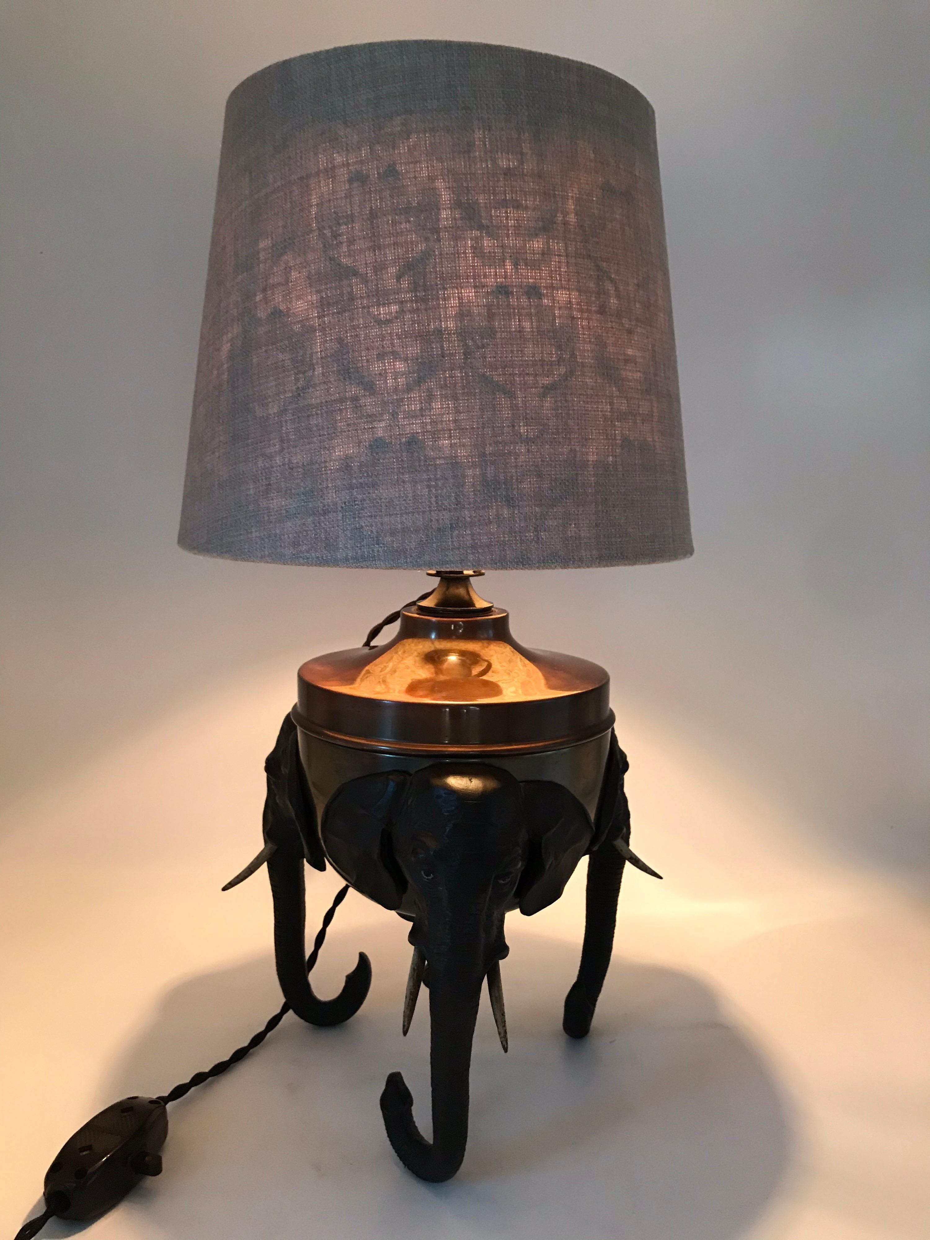 Antique Elephant Table Lamp