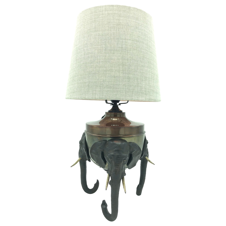 Rare antique medical table lamp
