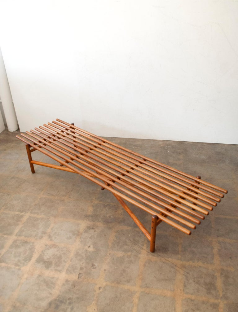 Extremely Rare Bertrand Goldberg Bench, 1952 For Sale 3