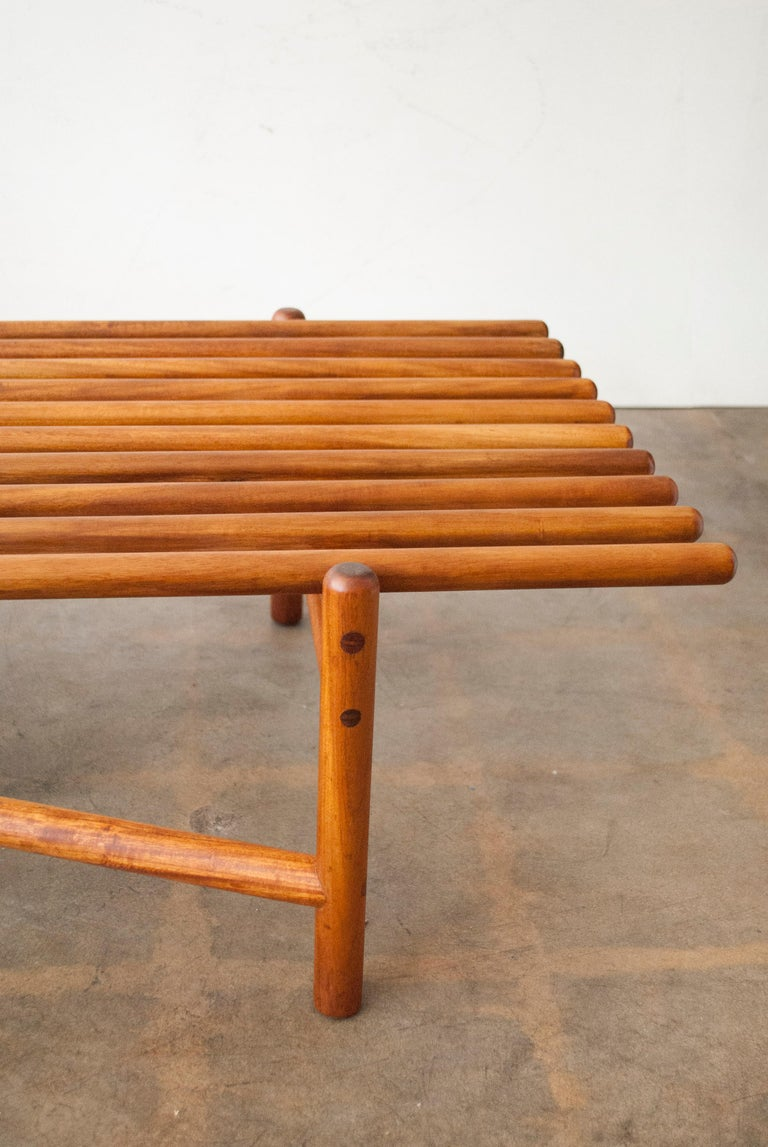 Extremely Rare Bertrand Goldberg Bench, 1952 For Sale 4