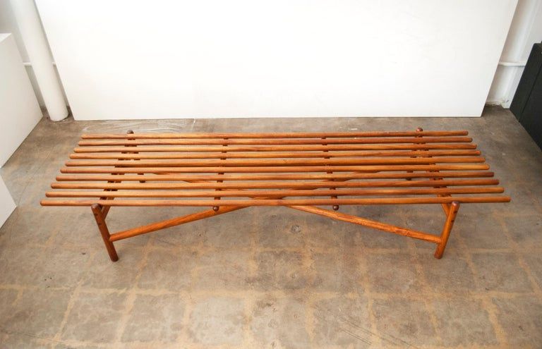 Mid-Century Modern Extremely Rare Bertrand Goldberg Bench, 1952 For Sale