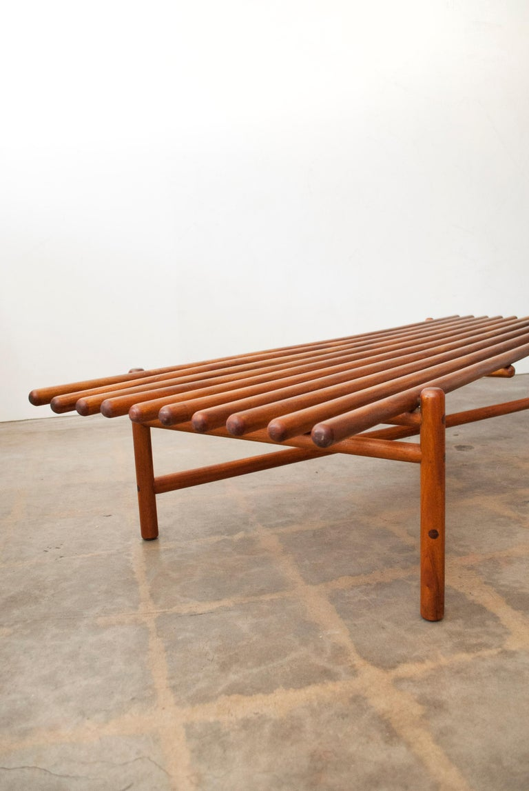 American Extremely Rare Bertrand Goldberg Bench, 1952 For Sale