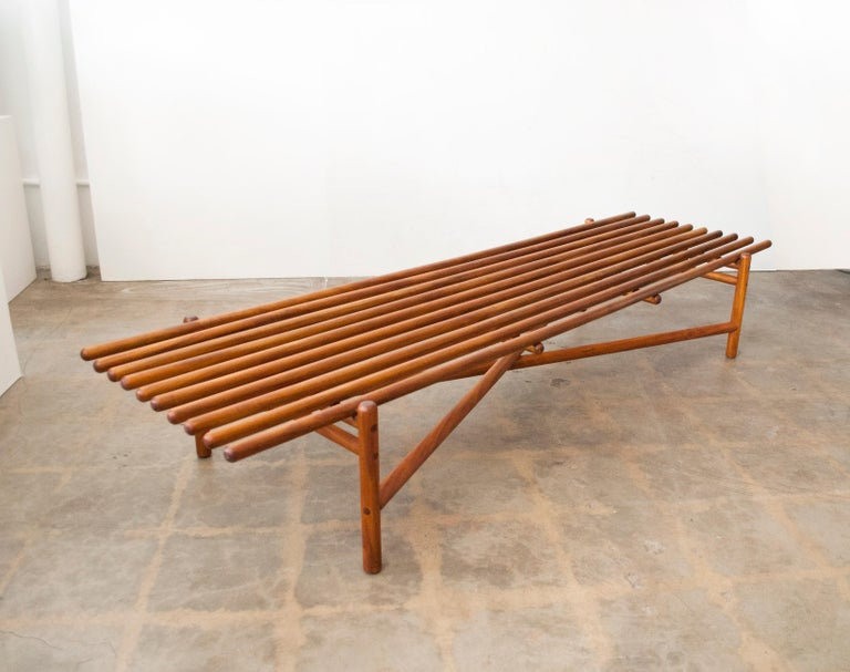 Mid-20th Century Extremely Rare Bertrand Goldberg Bench, 1952 For Sale