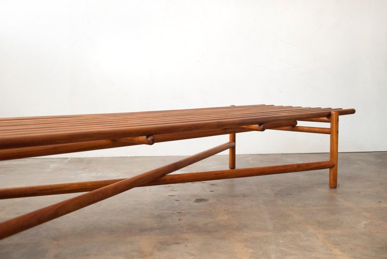 Extremely Rare Bertrand Goldberg Bench, 1952 For Sale 1