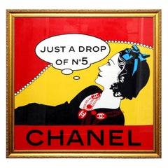 """Extremely Rare Chanel """"Drop of No.5"""" Scarf in Gold Frame"""