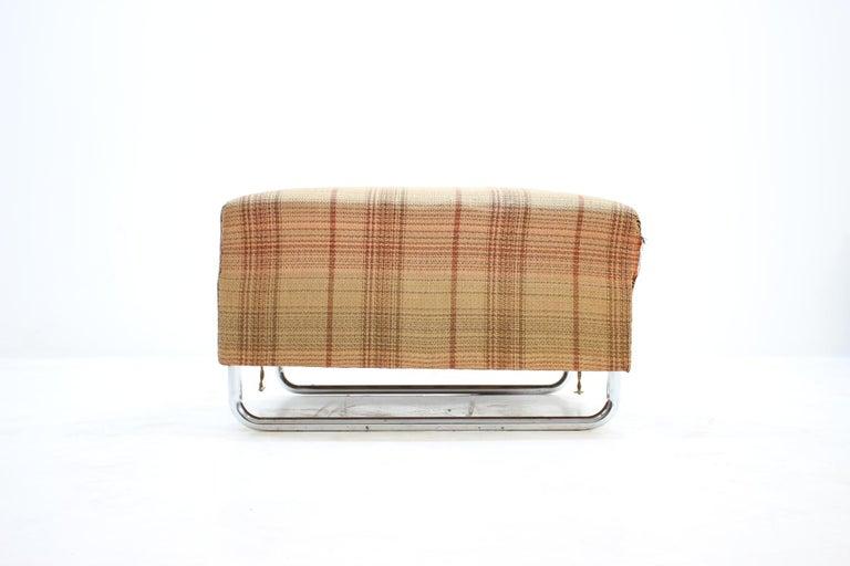 - 1930s - designer: J. Halabala - maker: UP Závody - completely original condition - published in UP catalogue - consist of three big taburets.