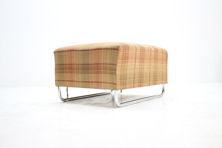 Extremely Rare Chrome Bauhaus Modular Sofa H120 or Jindřich Halabala, 1930s In Good Condition For Sale In Barcelona, ES