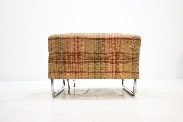 Mid-20th Century Extremely Rare Chrome Bauhaus Modular Sofa H120 or Jindřich Halabala, 1930s For Sale