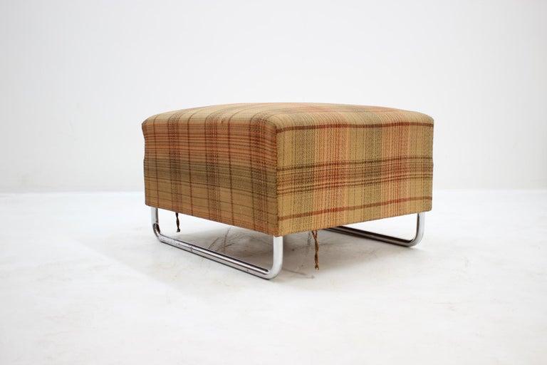 Extremely Rare Chrome Bauhaus Modular Sofa H120 or Jindřich Halabala, 1930s For Sale 1