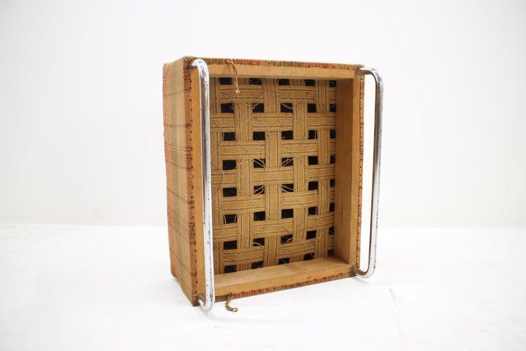 Extremely Rare Chrome Bauhaus Modular Sofa H120 or Jindřich Halabala, 1930s For Sale 2