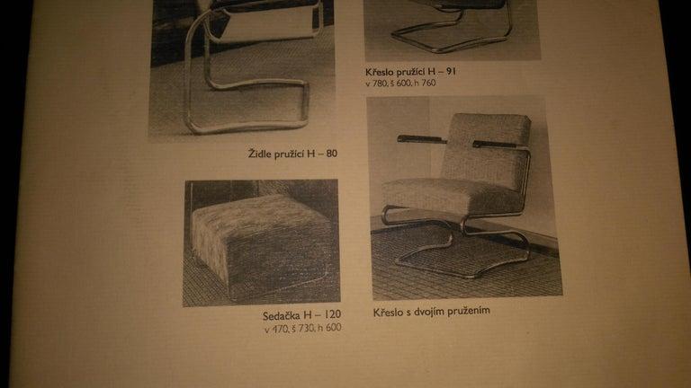 Extremely Rare Chrome Bauhaus Modular Sofa H120 or Jindřich Halabala, 1930s For Sale 3