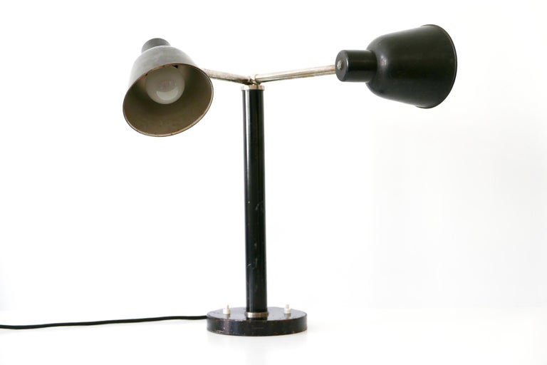 Extremely Rare Double Head Two-Armed Bauhaus Table Lamp, 1920s-1930s, Germany For Sale 5
