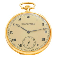 "Extremely Rare ""Eagle"" Patek Philippe & Co. 18 Karat Gold Open Face Pocket Watch"