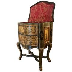 """Extremely Rare Italian Rococo """"Lacca Comodino"""", 17th-18th Century, Venice"""