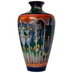 Extremely Rare Moorcroft Gatekeeper Vase by Emily Bossons, circa 2003