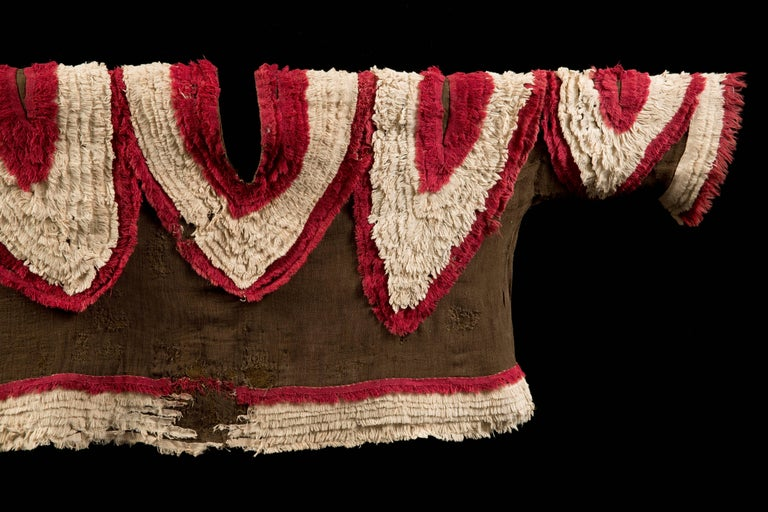 Extremely Rare Pre-Columbian Chimu Gauze Poncho Textile, Peru, 1000-1450 AD For Sale 5