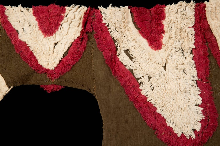 18th Century and Earlier Extremely Rare Pre-Columbian Chimu Gauze Poncho Textile, Peru, 1000-1450 AD For Sale