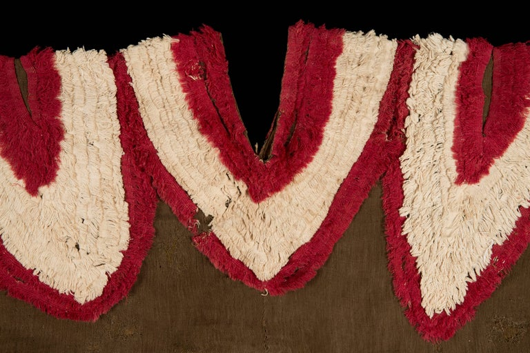 Extremely Rare Pre-Columbian Chimu Gauze Poncho Textile, Peru, 1000-1450 AD For Sale 1
