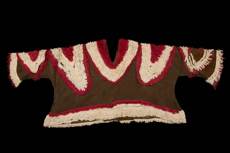 Extremely Rare Pre-Columbian Chimu Gauze Poncho Textile, Peru, 1000-1450 AD For Sale 4