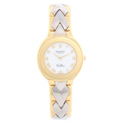Extremely Rare Rolex Cellini Ladies 18 Karat Gold and White Gold Watch 6651
