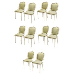 Extremely Rare Set of 10 Garouste & Bonetti 'Palace' Dining Chairs, 1980