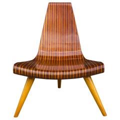 Extremely Rare Three-Legged Chair by Joaquim Tenreiro