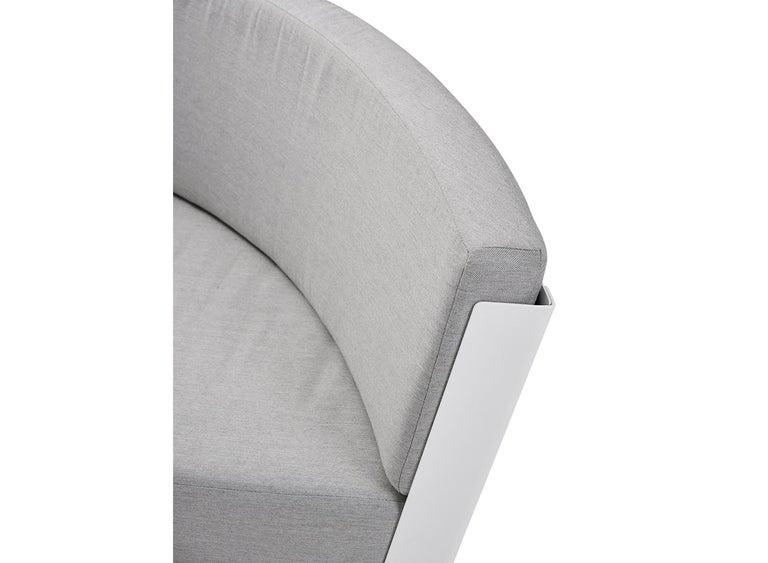 Belgian Extremis Kosmos Eight-Seat Designer Sofa with Kosmos Parasol Round For Sale