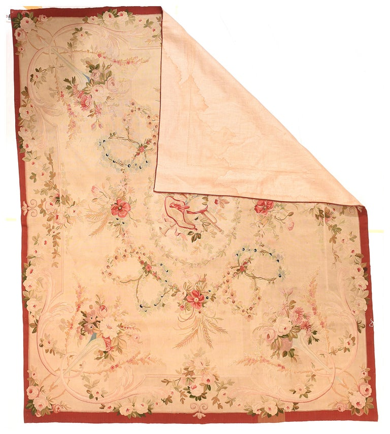 Hand-Knotted Extremly Fine Antique Aubusson-Beauvais French Tapestry, circa 19th Century For Sale
