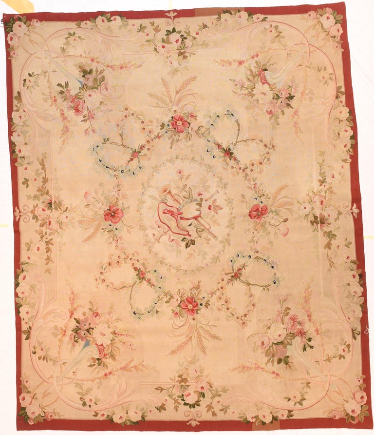 Extremly Fine Antique Aubusson-Beauvais French Tapestry, circa 19th Century In Excellent Condition For Sale In Chevy Chase, MD