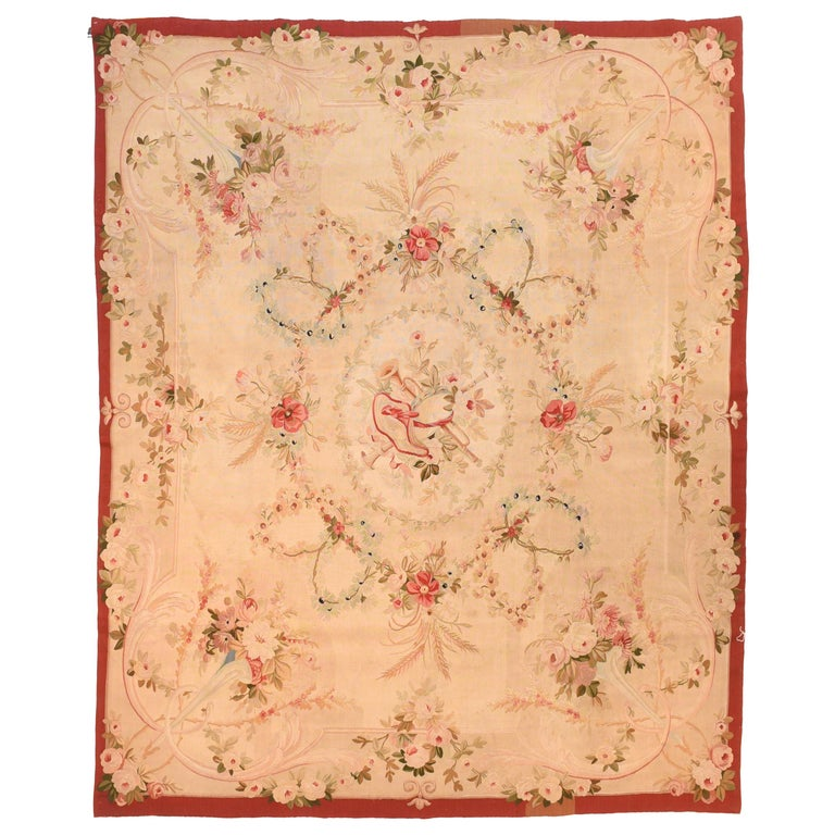 Extremly Fine Antique Aubusson-Beauvais French Tapestry, circa 19th Century For Sale