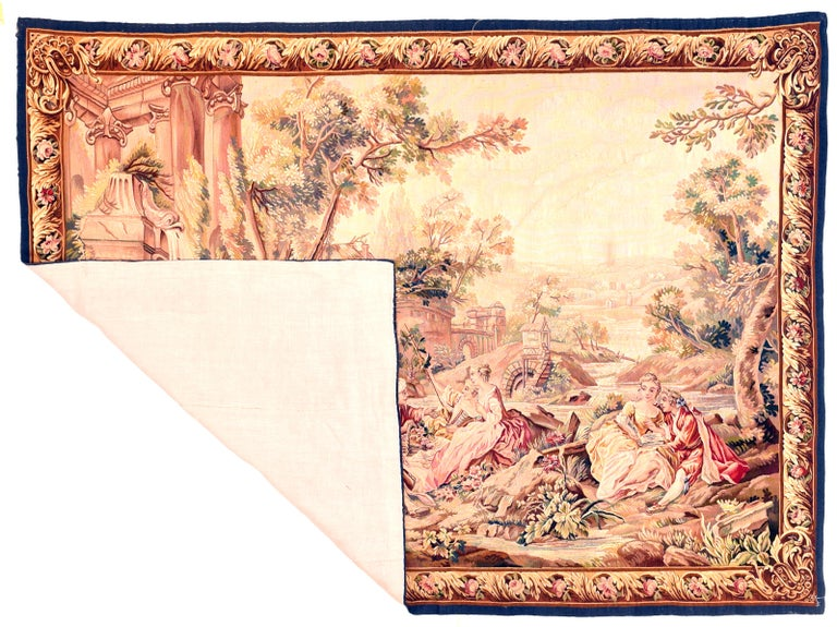 Extremely fine antique Aubusson-Beauvais pictorial French tapestry, hand knotted, circa 19th century