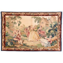 Extremly Fine Antique Aubusson French Pictorial Tapestry, circa 19th Century
