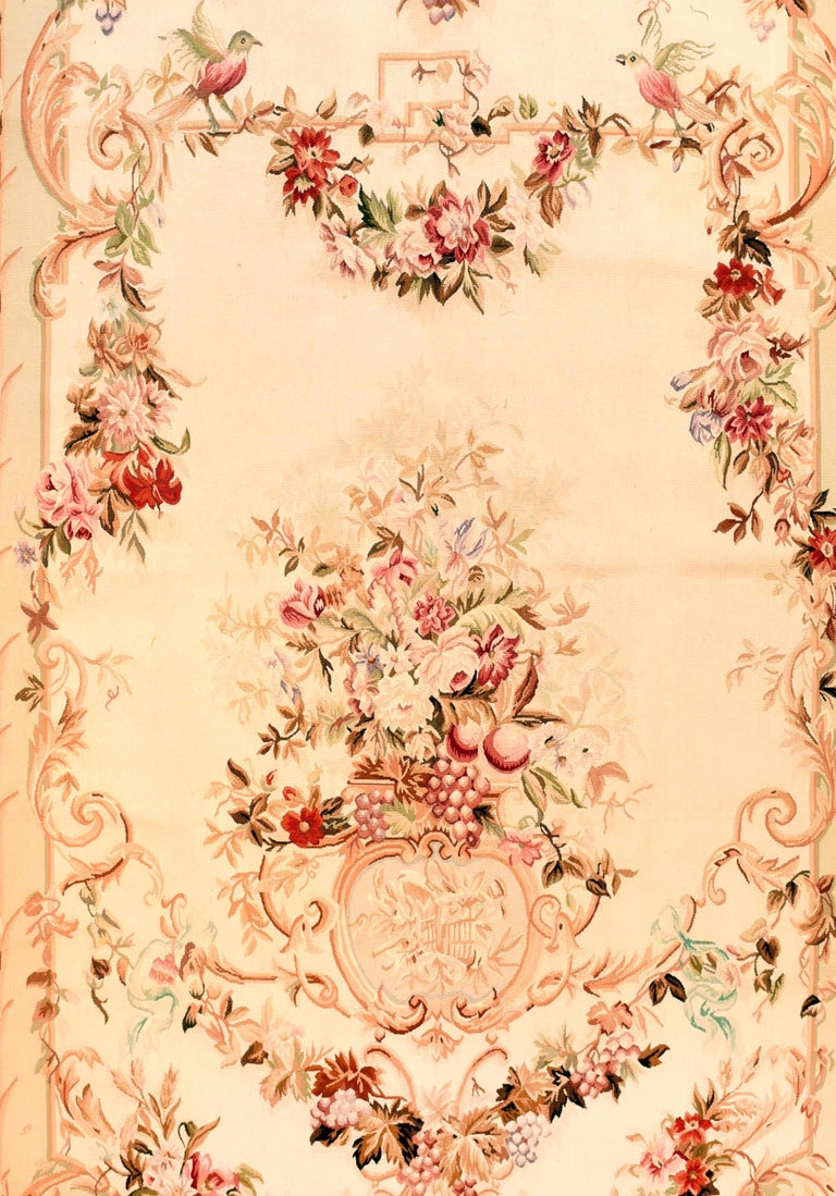 Hand-Knotted Extremly Fine Antique Aubusson French Tapestry, Hand Knotted, circa 19th Century For Sale