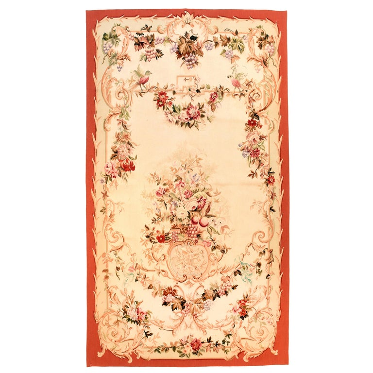 Extremly Fine Antique Aubusson French Tapestry, Hand Knotted, circa 19th Century For Sale