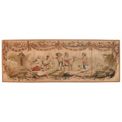 Extremly Fine Antique Aubusson Pictorial French Tapestry,  circa 19th Century