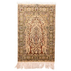Extremly Fine Antique Herekeh Turkish Rug, Hand Knotted, circa 1910