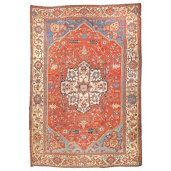 Extremly Fine Antique Persian Bakshayesh Rug, Hand Knotted, circa 1890
